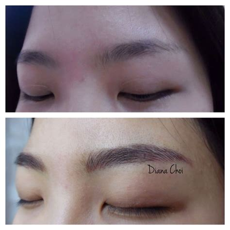 eyebrow tattoo in korea 15 best semi permanent hair stroke tattoo eyebrows hair