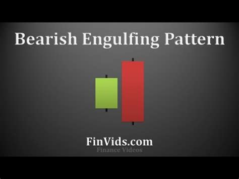 engulfing pattern you tube bearish engulfing candlestick chart pattern video