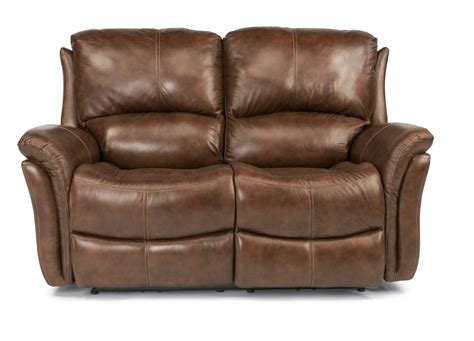 flexsteel recliner sofa flexsteel latitudes dominique 1445 60p casual reclining seat with power motion and folded
