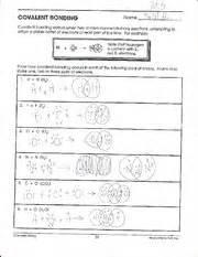 worksheet on covalent bonds