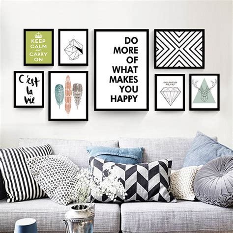 living room posters nordic decorative painting modern living room wall poster