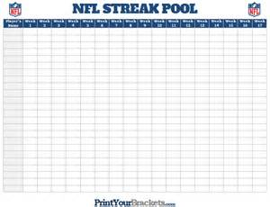 nfl pool template 33 point nfl football office pool printable template and