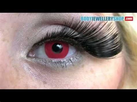 red color contact lenses block red youtube