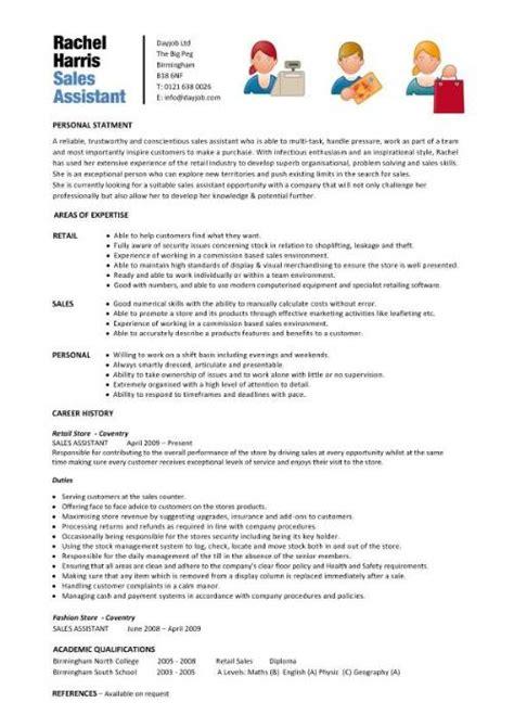 sles of assistant resumes shop assistant cv template description sle sales