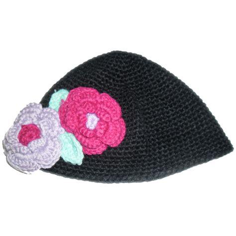 Gurita Polos Hitam klikbabylove topi rajut hitam ungu