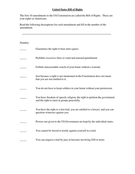 Interpreting The Bill Of Rights Worksheet by Worksheets Interpreting The Bill Of Rights Worksheet