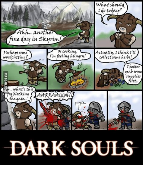 dark souls meme skyrim www pixshark com images