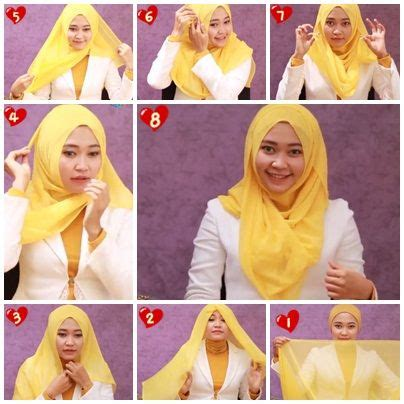 tutorial hijab paris lebar 9 best images about hijab on pinterest romantic simple