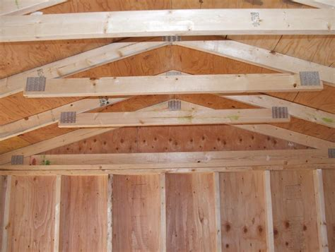 Shed Roof Trusses by Barn Shed Home Plans