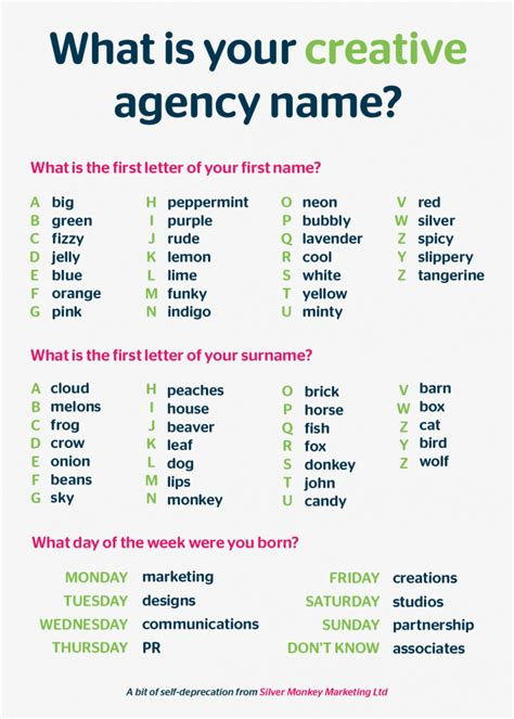 creative names what s your creative design agency name silver monkey