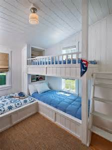 Bunk Beds In A Small Room Small Cottage With Inspiring Coastal Interiors Home Bunch Interior Design Ideas