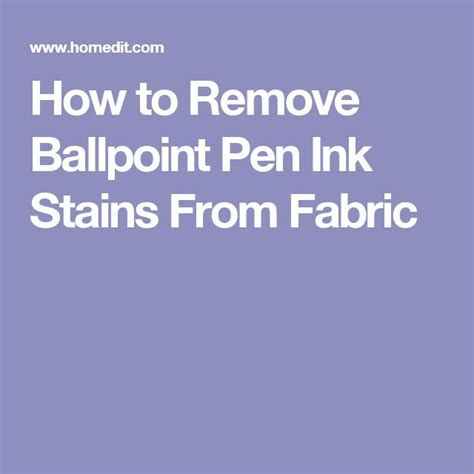 How To Remove Pen Stains From by How To Remove Ballpoint Pen Ink Stains From Fabric Home