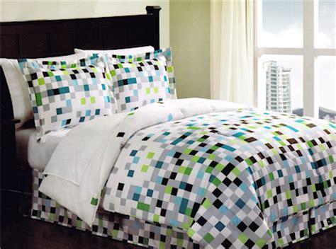 pixel bedding minecraft pixels comforter set teen bedding bed in a bag