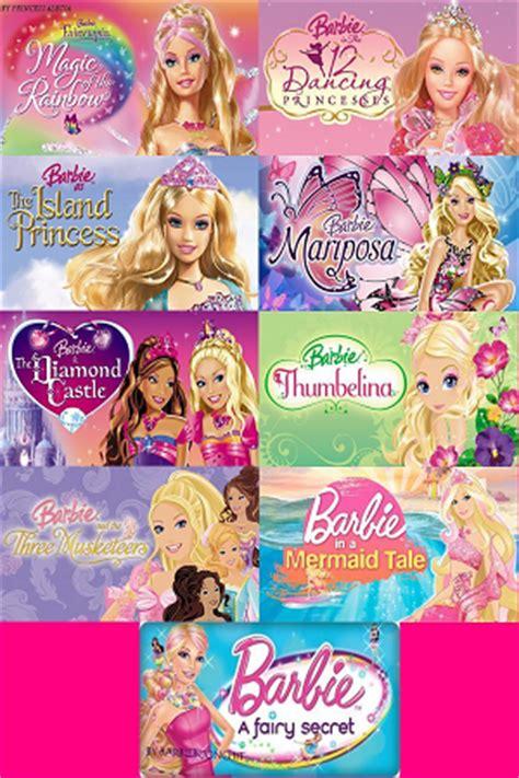 film disney barbie list of all barbie movies online