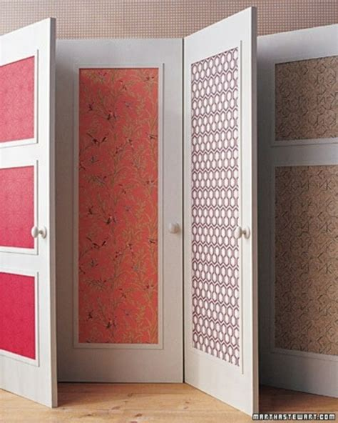 Creative Ideas For Closet Doors Creative Ideas For Using Wallpaper Home Goodness Pinterest Creative Childs Bedroom And