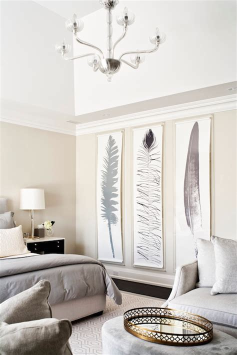 gray bedding transitional bedroom jennifer worts design