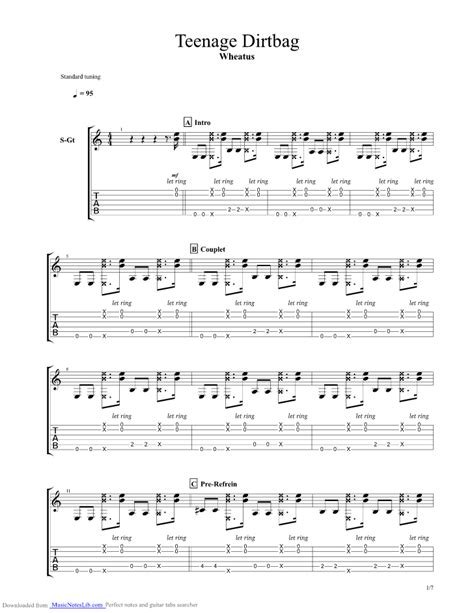 Teenage Dirtbag Guitar Chords