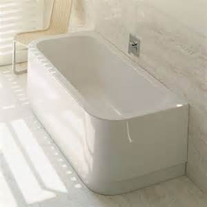duravit happy d back to wall bathtub white