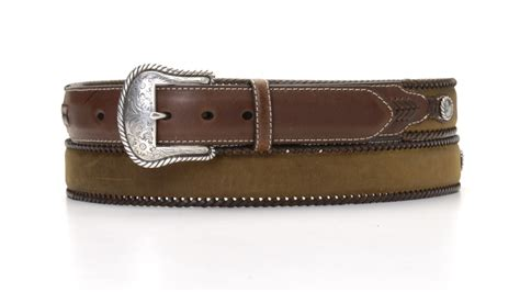 Quicksilver Edges Brown Leather 2 na 24756 44 medium brown distressed leather belt leather laced edge 1 1 2 quot
