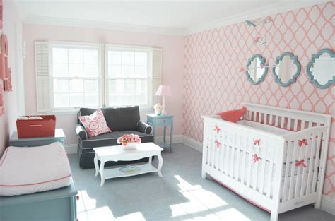 custom nursery by cool color combo pink and mint