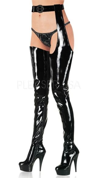 thigh high boots 6 inch heels 6 inch stiletto heel stretch platform chap boot