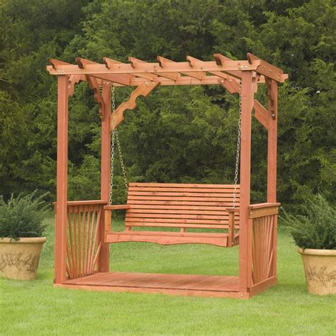 porch swing frame plan wooden cedar wood pergola - Pergola Swing