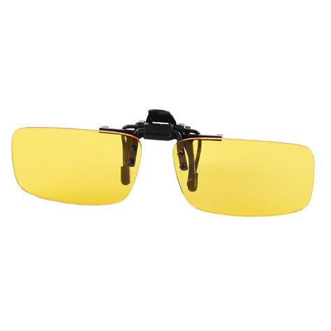 driving clip on glasses clear yellow lens rimless clip on vision driving