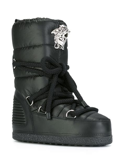 versace boots for versace palazzo snow boots in black for lyst