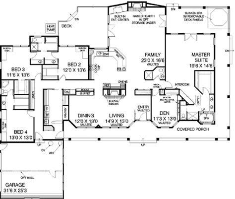3600 square foot house ranch style house plan 5 beds 4 00 baths 3600 sq ft plan