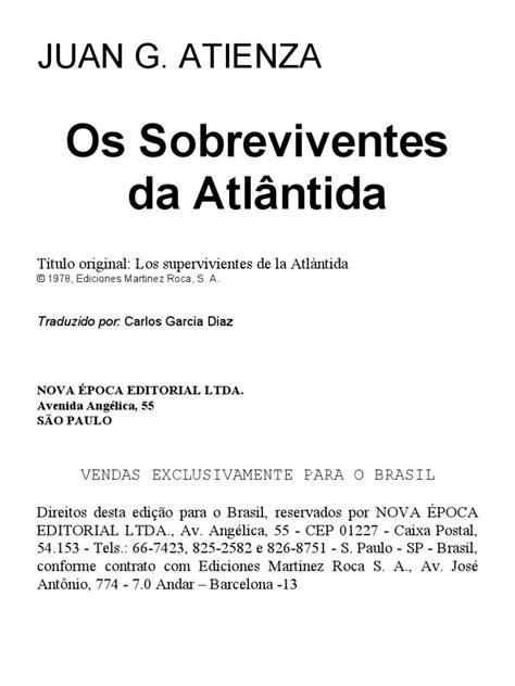 Sobreviventes da Atlântida, Os-Juan Garcia Atienza(2