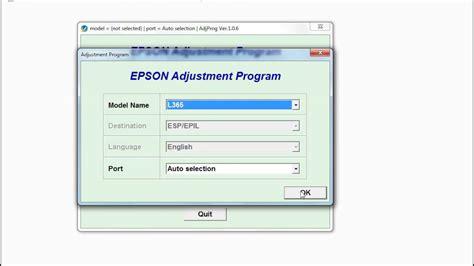 reset epson l365 free reset epson l130 l220 l310 l360 l365 youtube