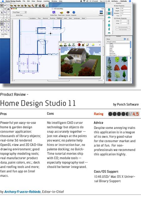 punch home design studio 11 mac architosh feature product review punch s home design