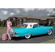 2016 ☞ HOT ROD 1955 Ford Thunderbird And THE BEAUTIFUL