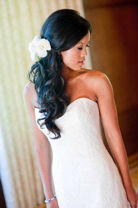 wedding hairstyles down and to the side style elegance kitchener waterloo wedding and event