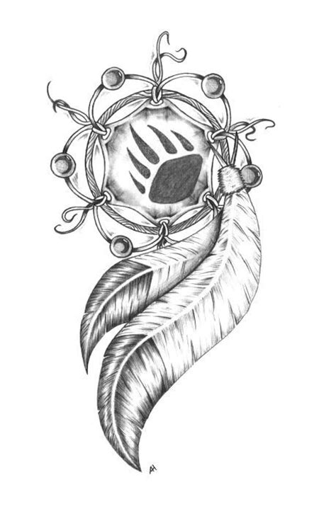 dream catcher drawing  love  bear paw   middle