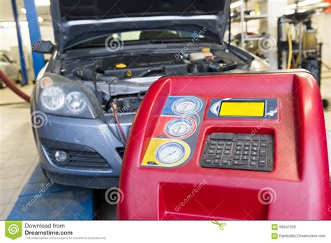 car air conditioning service machine stock photo image