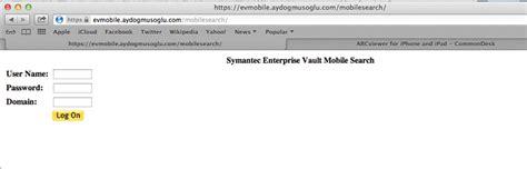 symantec enterprise vault mobile search nedir