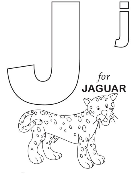 Letter J Coloring Page letter j coloring pages to and print for free