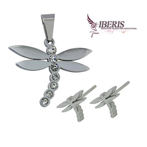 Trending Earrings Anting Anting Perhiasan stainless steel necklace anting perhiasan set untuk wanita tanaman patten berlapis emas 316l