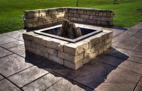 square fire pit insert fire pit ideas
