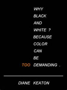 color black quotes modernist white