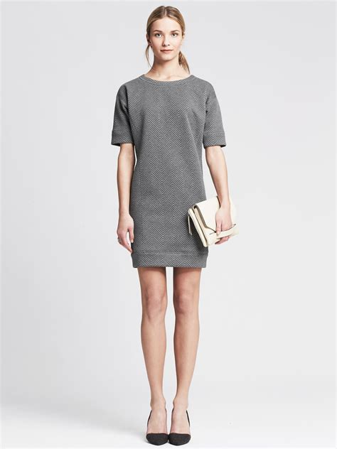 Banana Grey Dress banana republic light gray quilted dress in gray lyst