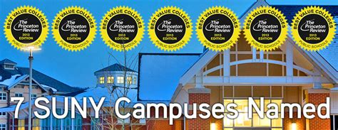 Top Suny 7 suny cuses named among the princeton review s best value colleges big ideas