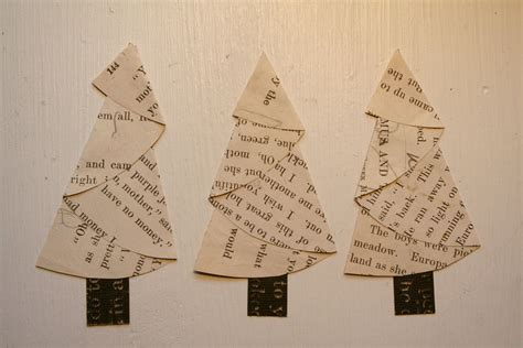 Folding Paper Trees - vintage paper trees