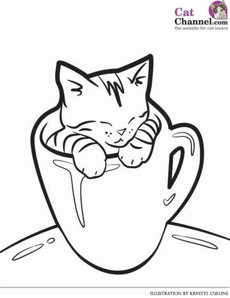 coloring page cute cat 22 best images about kitten coloring pages on pinterest