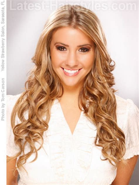 cute easy hairstyles for curly long hair cute hairstyles for long wavy hair