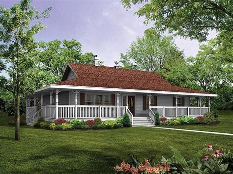 Ranch House With Wrap Around Porch | house plans with wrap around porches style house plans