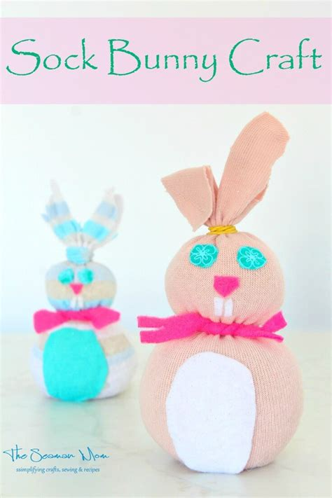 sock bunny craft for easter