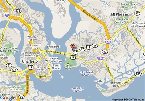 map of mt pleasant sc map of extended stay america charleston mt pleasant