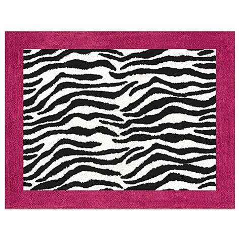 sweet jojo designs rugs sweet jojo designs funky zebra accent floor rug in pink bed bath beyond